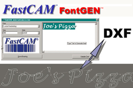 FastCAM FontGEN NC solution for cutting text