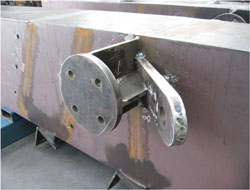 Detail on main support beams. All welds full penetration and all components direct from profiling machine.