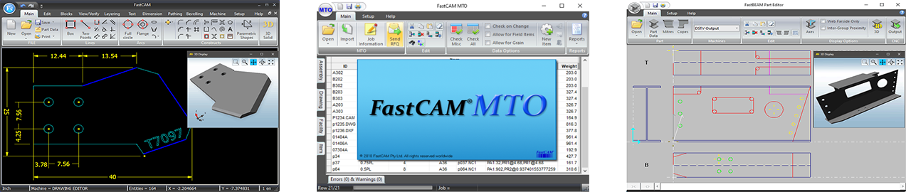 FastCAM Software - NC Profiling and Estimation