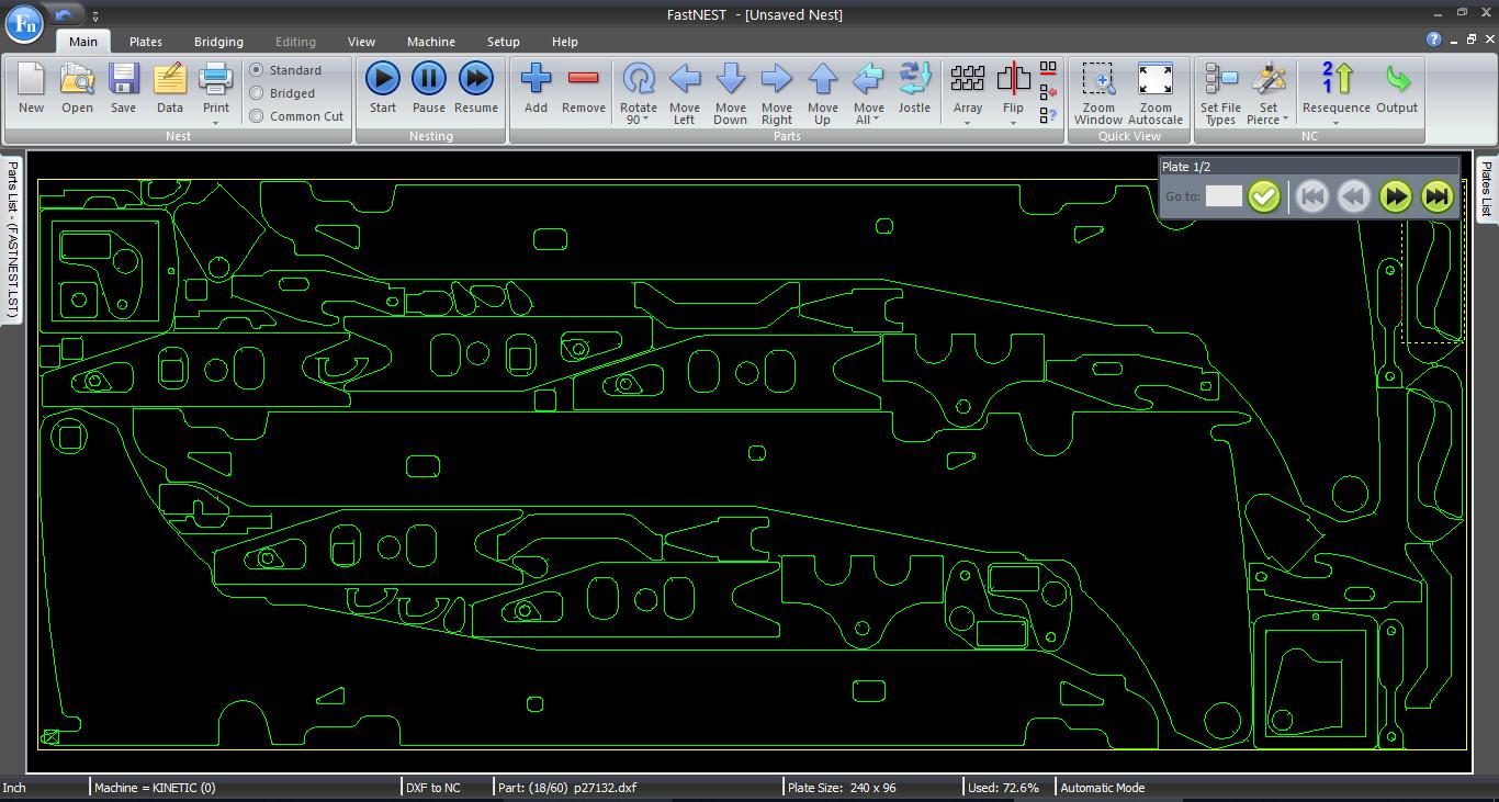 FastCAM Software | CNC CAD CAM | Plate Shape Nesting