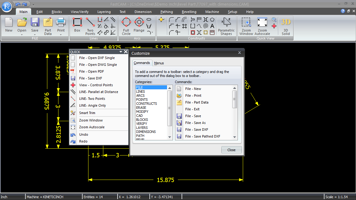 FastCAM Drawing Editor for NC parts | CAD CAM